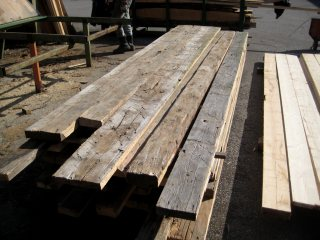 hand hewn boards