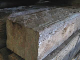 4-side hand hewn beams spruce