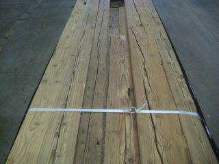 brushed hand hewn boards with original surface